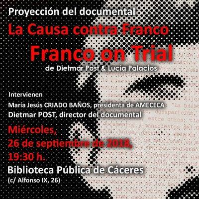 La causa contra Franco. Franco on Trial en Cáceres
