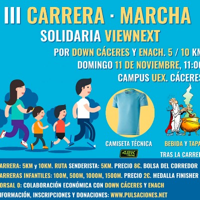 III Carrera Solidaria ViewNext en Cáceres